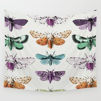 moth Wall Tapestries featuring Techno-Moth Collection by Zeke Tucker