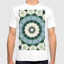 Cerulean Blue and Sacramento Green Mandala T-shirt