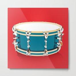 Drum - Red Metal Print