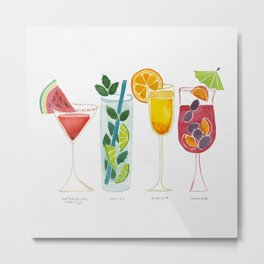Summer Cocktail Trio Metal Print