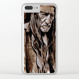 Sepia Willie Clear iPhone Case