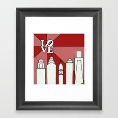 LOVEred Framed Art Print