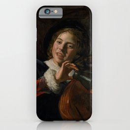 Frans Hals - Lute Playing Boy - Renaissance Fine Art Retro Vintage Oil Painting iPhone Case