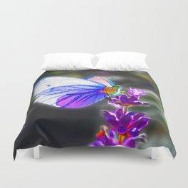 Butterfly on the Lavender Duvet Cover