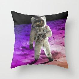 Astronaut Low Poly Throw Pillow
