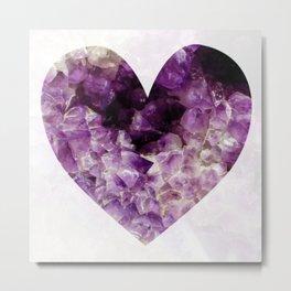 i heart amethyst Metal Print