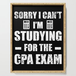 Funny Accountant CPA Exam Studying Accounting Serving Tray