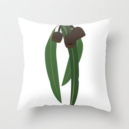 Humble Gumnuts Throw Pillow