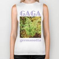 lady gaga Biker Tanks featuring Gaga germanotta by Duke Herbarium
