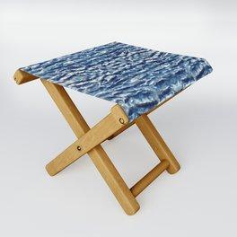 Shiso Shibori Satin Folding Stool
