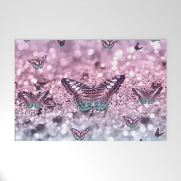 Pastel Unicorn Butterfly Glitter Dream #2 #shiny #decor #art #society6 Welcome Mat