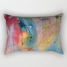 Night out in the city - impressionist watercolor painting V2 Rectangular Pillow