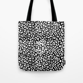Leopard Black & White Tote Bag