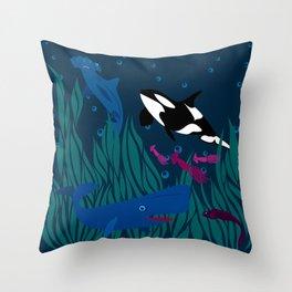 Under water Throw Pillow