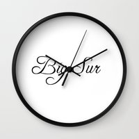 big sur Wall Clocks featuring Big Sur by Blocks & Boroughs