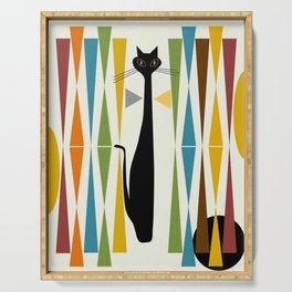 Mid-Century Modern Art Cat 2 Serving Tray