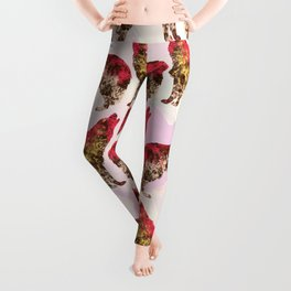 Abstract Wolf Leggings