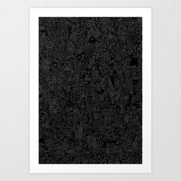 Dark doodle Art Print