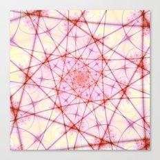 Neural Network Spiral Canvas Print