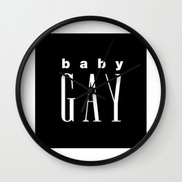 Baby Gay Wall Clock