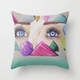 Through your eyes Throw Pillow