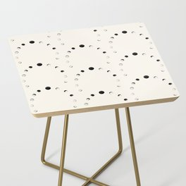 Moon Phase Pattern Side Table