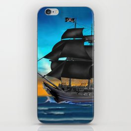Pirate Ship at Sunset iPhone Skin