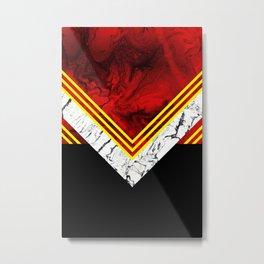 RED GEOMETRY Metal Print