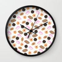 cookies Wall Clocks featuring Cookies! by Sylvia Morris