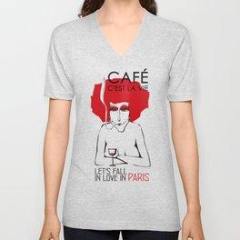 Café c'est la vie - Paris Unisex V-Neck