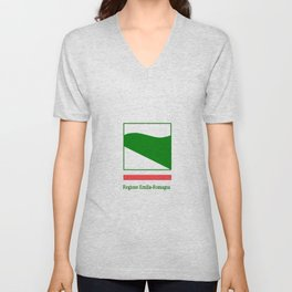 flag of Emilia romagna Unisex V-Neck