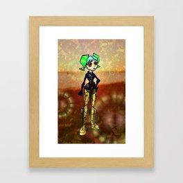 Stylized Steampunk Framed Art Print