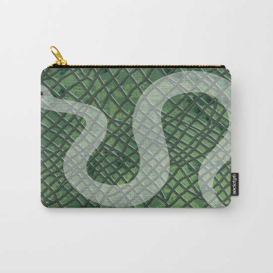 Snakeskin and snake Carry-All Pouch