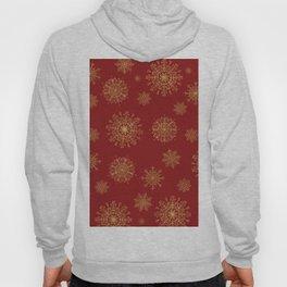 Assorted Golden Snowflakes Hoody
