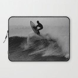 Surf black white Laptop Sleeve