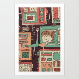Everything you always wanted to know about mobile communication but where afraid to ask 3 Art Print