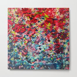 Red Slime and Blue Metal Print