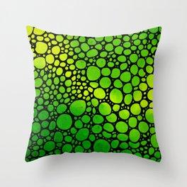 Green Lights - Stone Rock'd Art By Sharon Cummings Throw Pillow