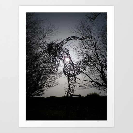 AN ECLIPSE OF THE HEART FOR THE JOY OF SPRING Art Print