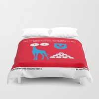 mercedes Duvet Covers featuring No145 My THE HANGOVER PART 3 minimal movie poster by Chungkong