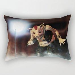 Pig Vicious - Hog Save The Queen - Punk Rock Pig Artwork Rectangular Pillow