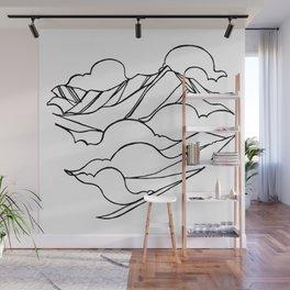 Garibaldi, Squamish :: Single Line Wall Mural