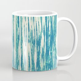Ikat Streaks in Aqua Coffee Mug