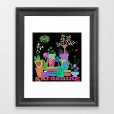 happy gardening Framed Art Print
