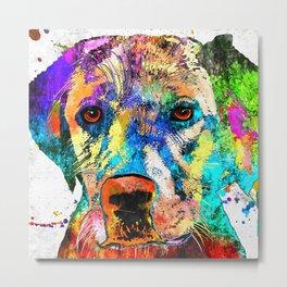 Labrador Retriever Grunge Metal Print