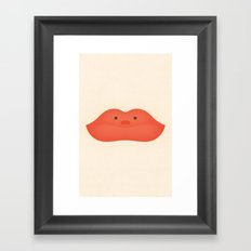 Lips Chair Framed Art Print