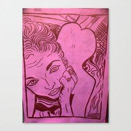 Original Linocut Art By Gina Lee Ronhovde Canvas Print