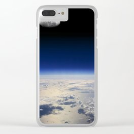 Earth and Moon Clear iPhone Case