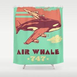 Air Whale Shower Curtain