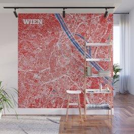 Vienna, Austria street map Wall Mural